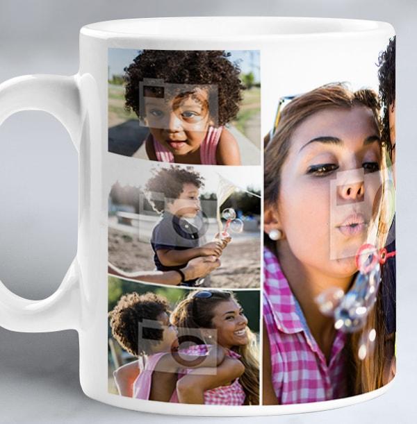 8 Photos Collage Mug
