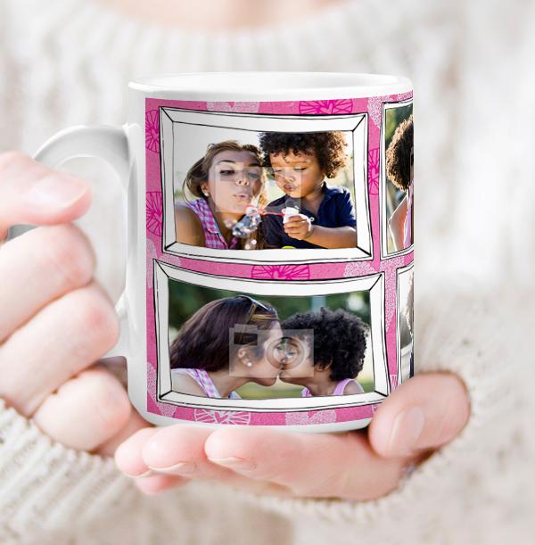Mummy Multi Photo Frame Mug