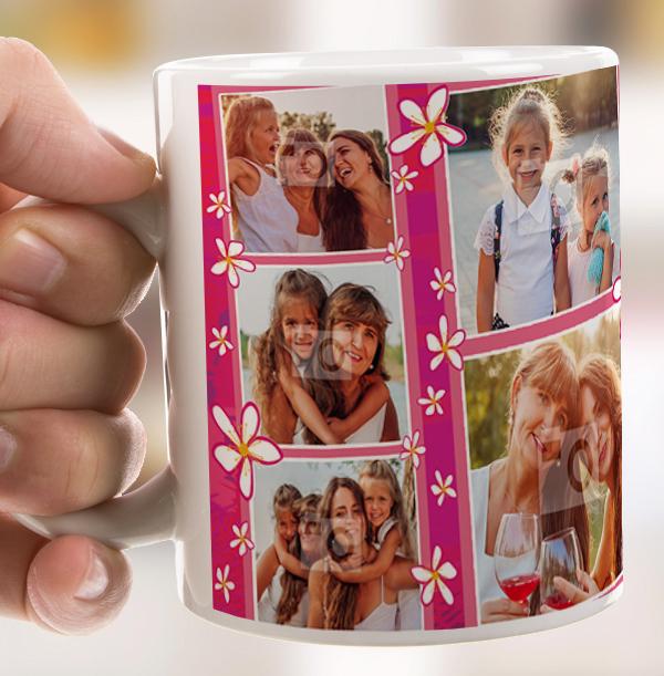 Thank You Mum Multi Photo Personalised Mug