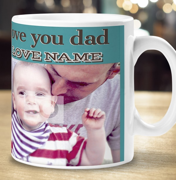 D Is For Dad Personalised Mug