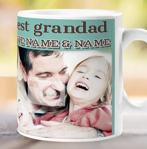 G Is For Grandad Personalised Mug