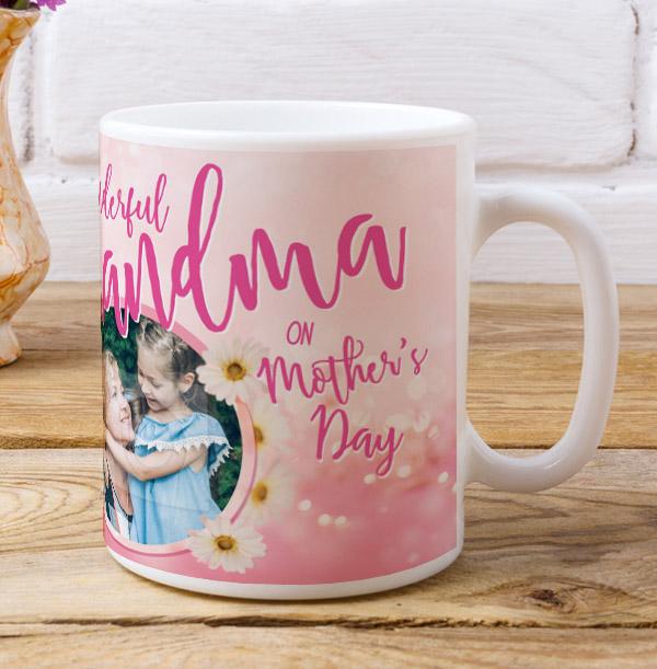 Wonderful Grandma Mother's Day Photo Mug
