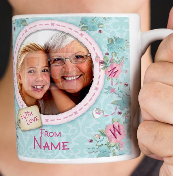 Me To You Personalised Photo Mug - Nanny