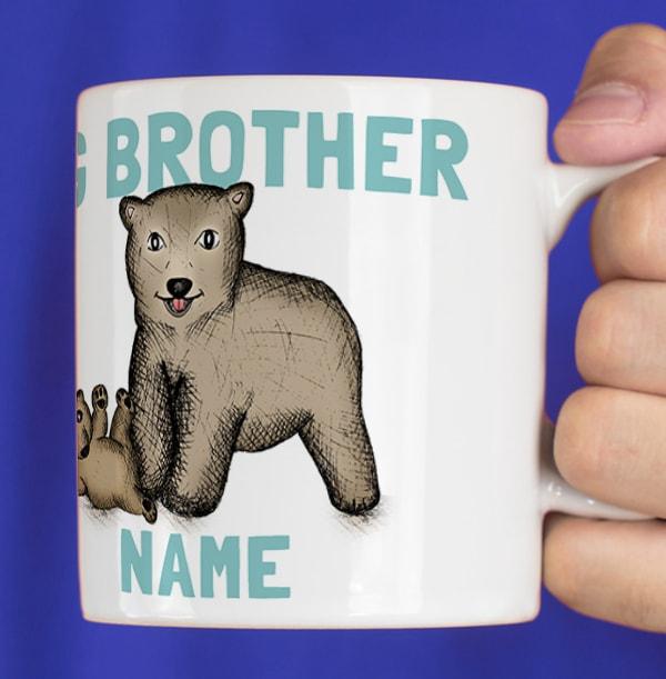 Big Brother Bear Photo Mug