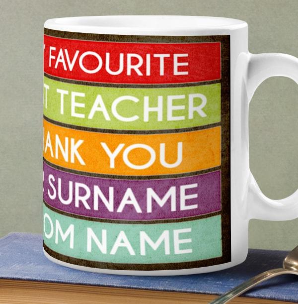 Favourite Teacher Personalised Mug