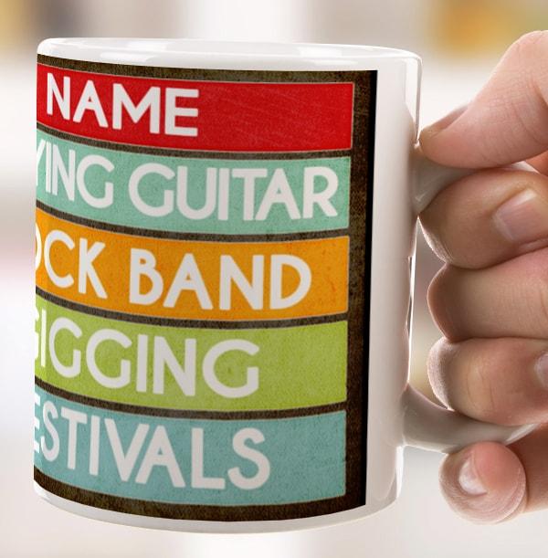 His Favourites List Personalised Mug