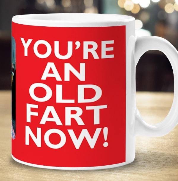 Keep Calm Old Fart Personalised Mug