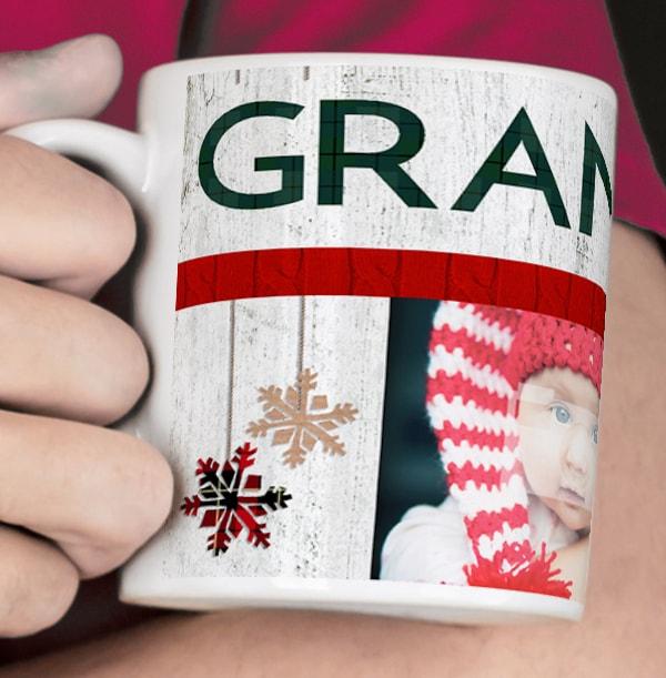 Nordic Kisses Grandad Personalised Mug