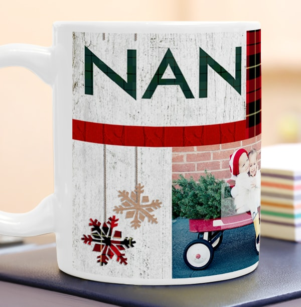 Nordic Kisses Nan Personalised Mug