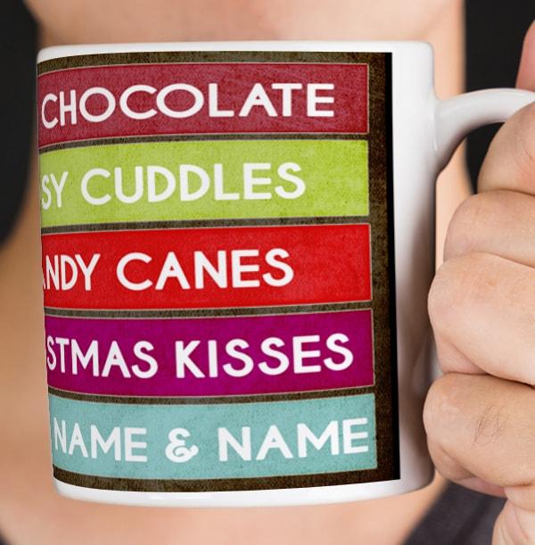 Christmas Favourites List Personalised Mug