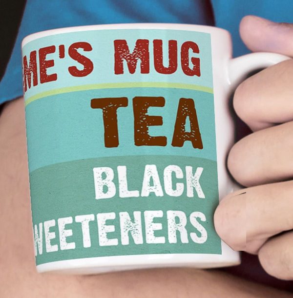 Personalised Black Tea Recipe Mug for Him