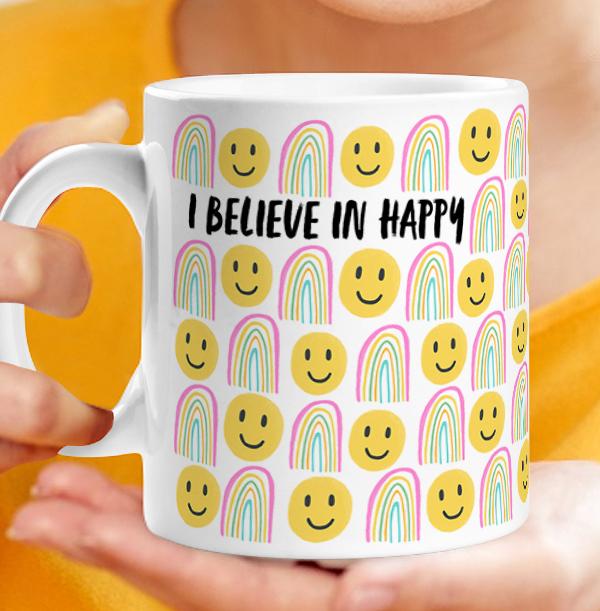 I Believe in Happy Personalised Mug