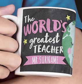 World's Greatest Teacher Personalised Mug