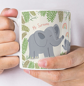 In the Jungle Thank You Teacher Personalised Mug
