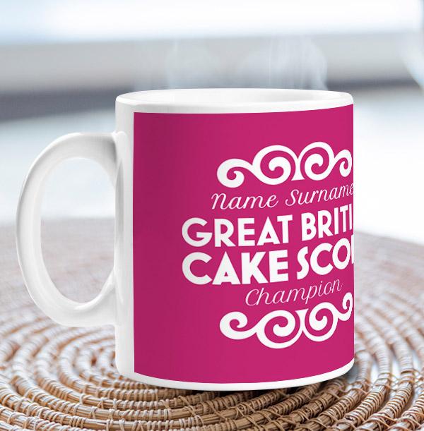 Great British Cake Scoff Personalised Mug