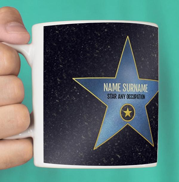 Blue Star Occupation Personalised Mug