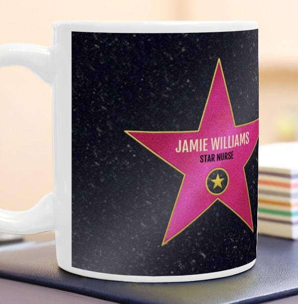 Pink Star Occupation Personalised Mug