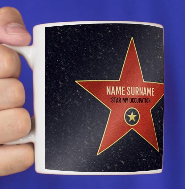 Red Star Occupation Personalised Mug