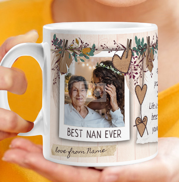 The best Mums get promoted to Nan Photo Mug