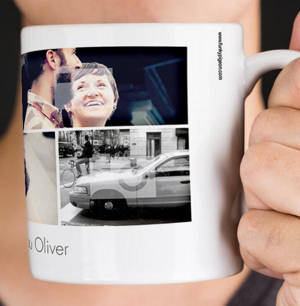 Personalised Mug - Multi Photo Upload Polaroids