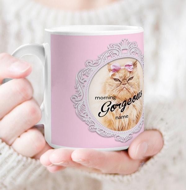 Morning Gorgeous Personalised Mug - Rachael Hale