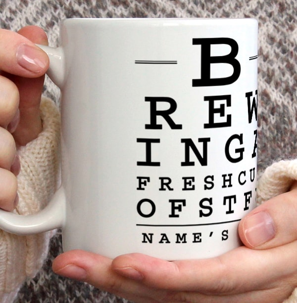 Brewing A Fresh Cup Personalised Mug