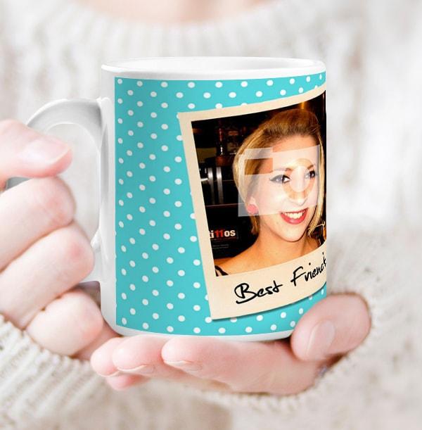 Personalised Mug - 2 Multi Photo Upload Snap Shots Blue