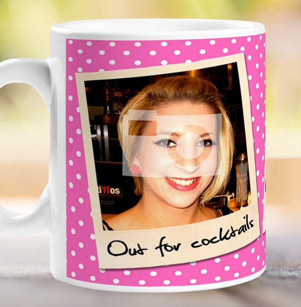 Personalised Mug - 3 Multi Photo Upload Snap Shots Pink
