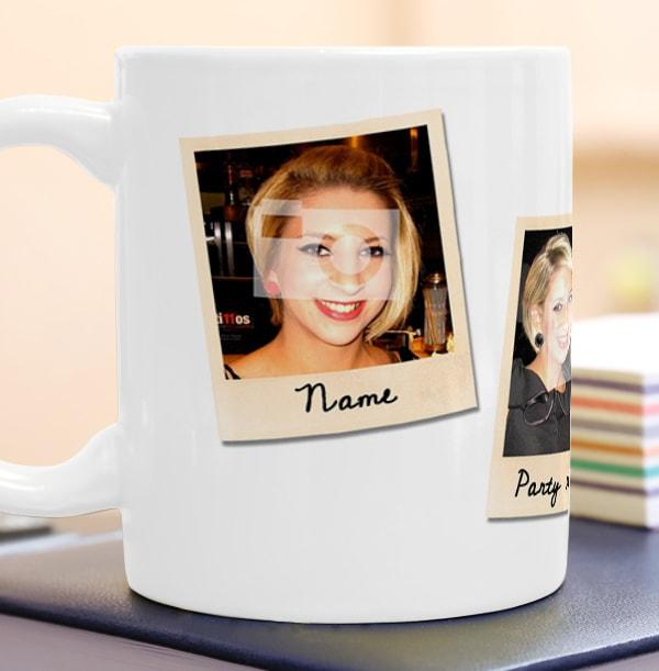 Personalised Mug - 4 Multi Photo Upload Snap Shots