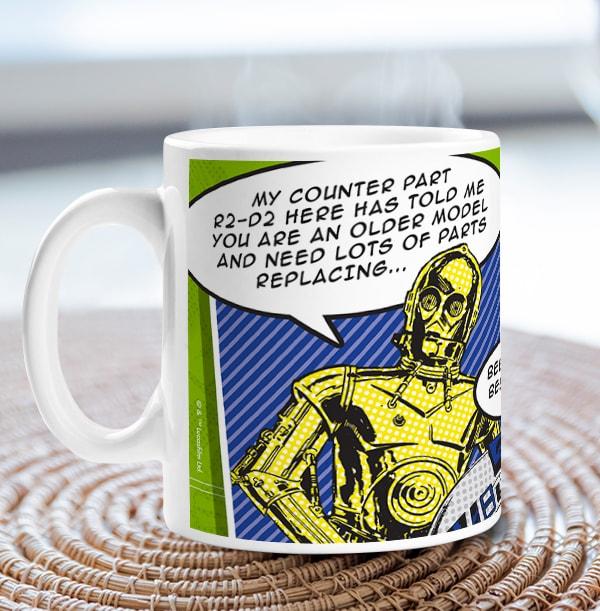 Star Wars A New Hope C-3PO & R2-D2 Mug