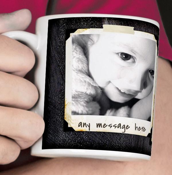 3 Photo Chalk Personalised Mug