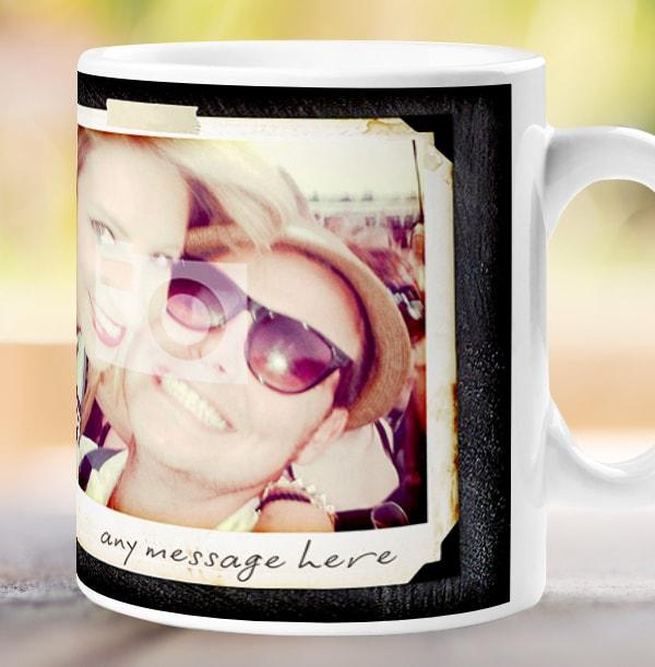 2 Photo Chalk Personalised Mug