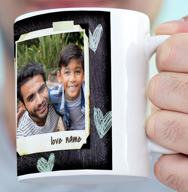 3 Photo Polaroid - My Daddy Mug