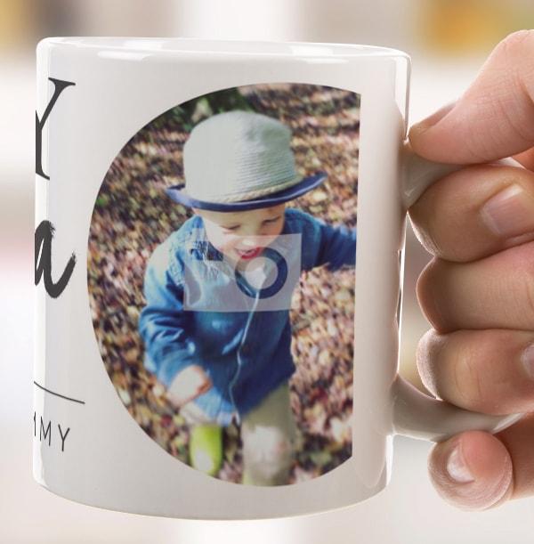 Boy Mama Photo Mug