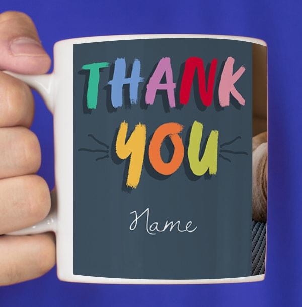 Photo Thank You Personalised Mug