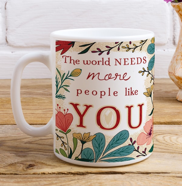 Floral Thank You Personalised Mug