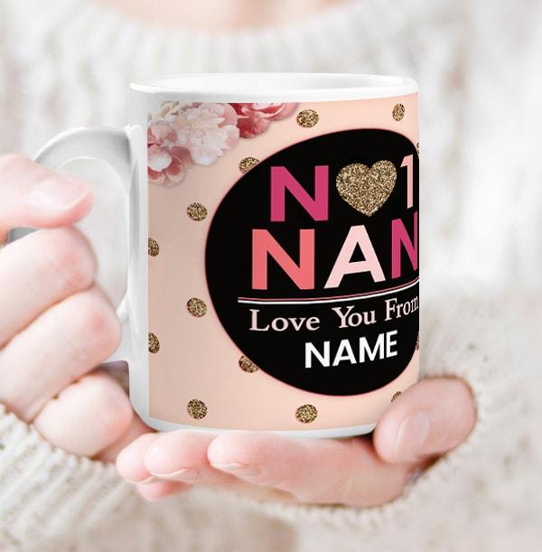 No1 Nan Personalised Mug