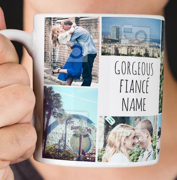 Multi Photo Upload Fiancé Mug