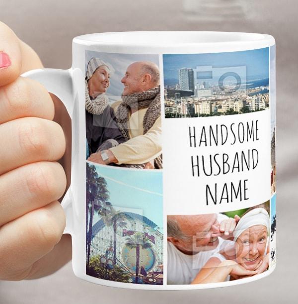 Multi Photo Upload Husband Mug