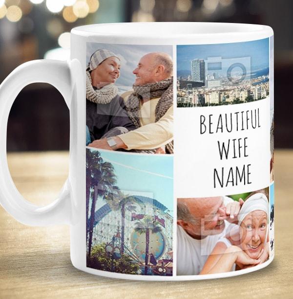 Multi Photo Upload Wife Mug