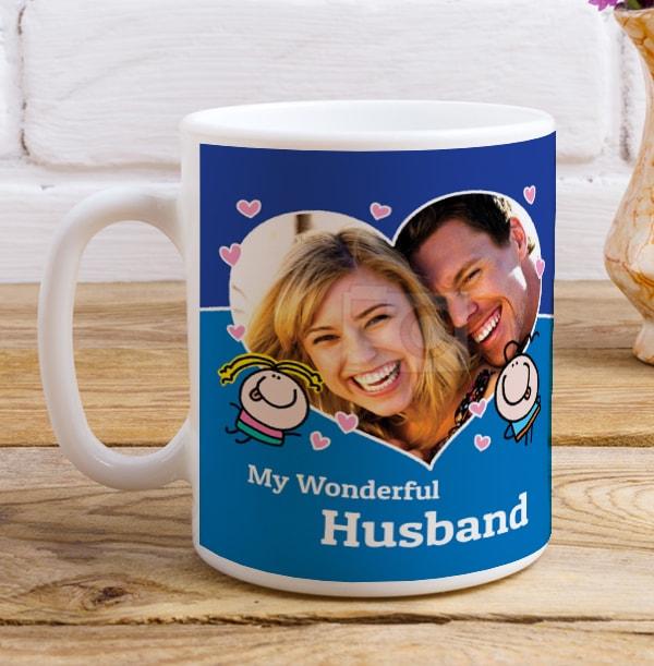 Wonderful Husband Photo Mug