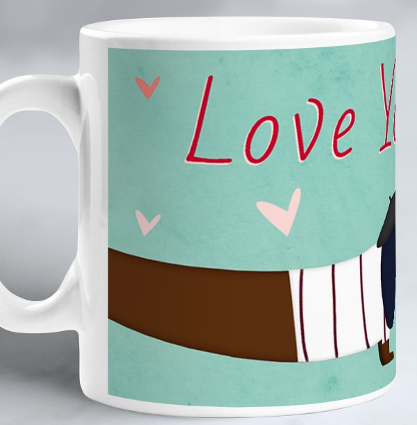 Love You Long Time Personalised Mug