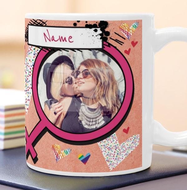 Love You Female Photo Mug