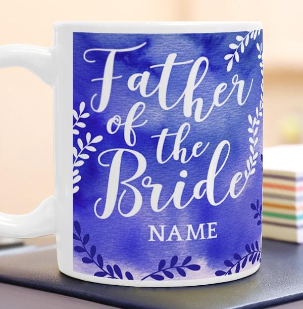 Father of the Bride Personalised Wedding Mug