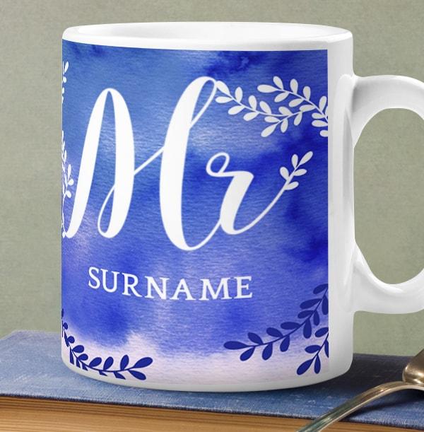 Mr Personalised Wedding Mug