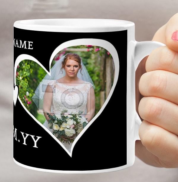 Bride Personalised Photo Wedding Mug