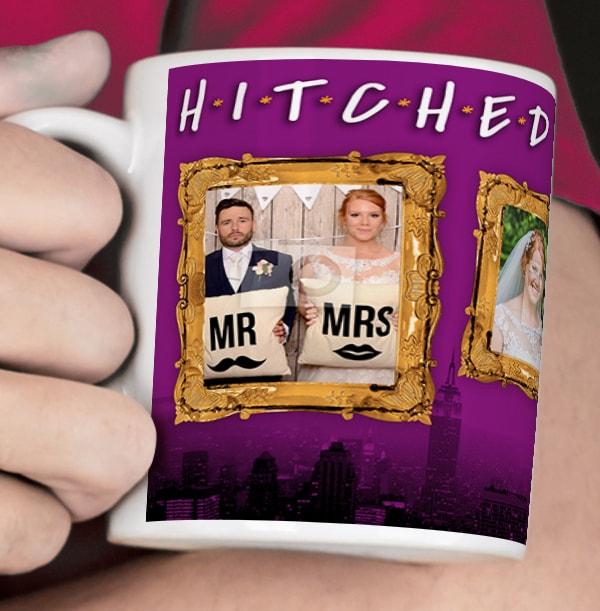 Hitched Photo Upload Personalised Mug