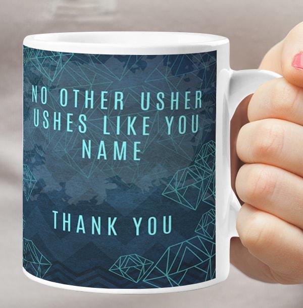 Usher Suit Up Thank You Personalised Mug
