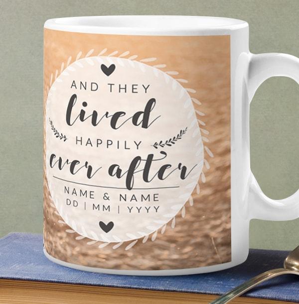 Happily Ever After Full Photo Wedding Mug
