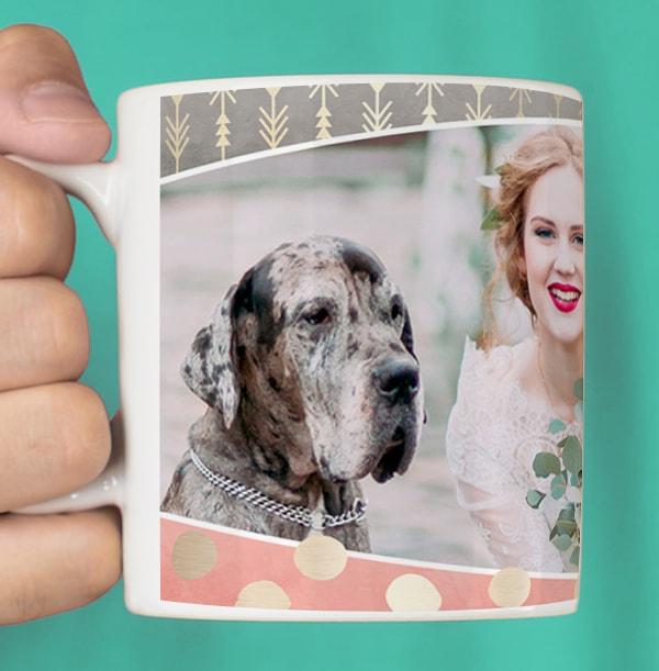 Mr & Mrs Wedding Day Photo Mug